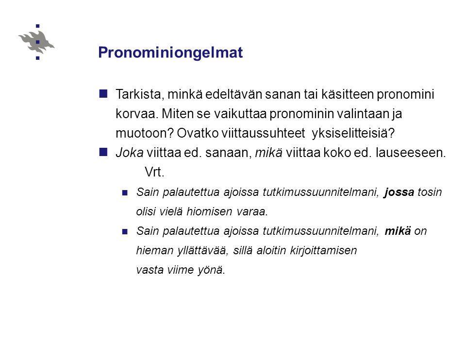 Pronominiongelmat