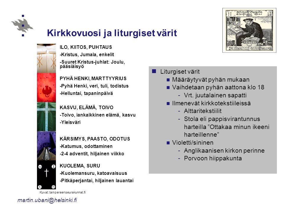 Kirkkovuosi ja liturgiset värit