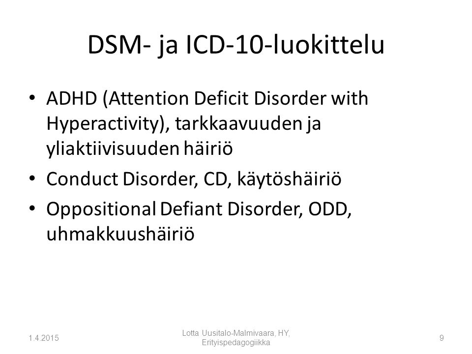 a description of the attention deficit disorder Attention deficit disorder (add) a syndrome affecting children, adolescents, and adults characterized by short attention span, hyperactivity, and poor concentration the symptoms may be mild or severe and are associated with functional deviations of the central nervous system without signs of major neurological or psychiatric.