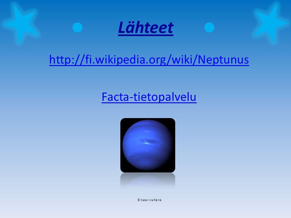 Lähteet http://fi.wikipedia.org/wiki/Neptunus Facta-tietopalvelu