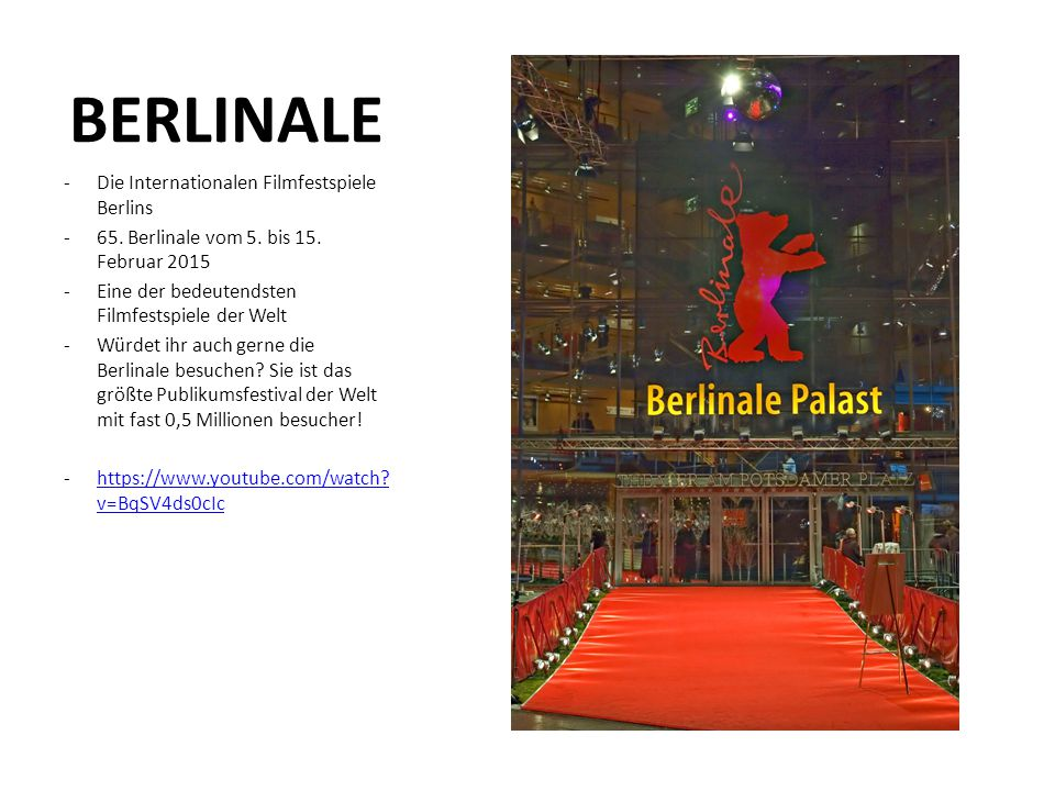 BERLINALE Die Internationalen Filmfestspiele Berlins