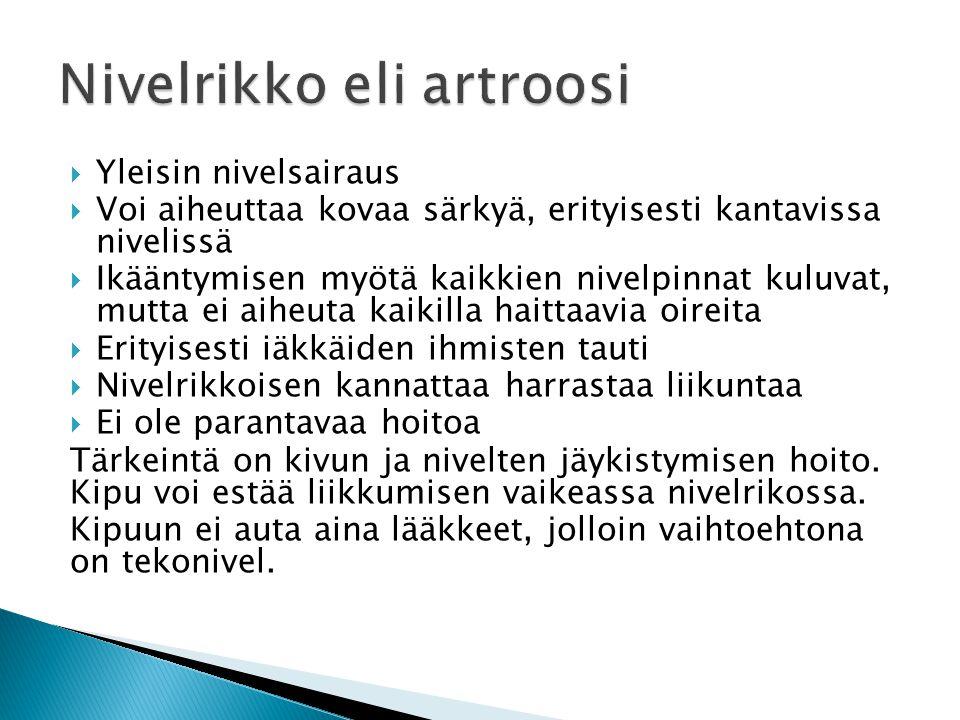 Nivelrikko eli artroosi