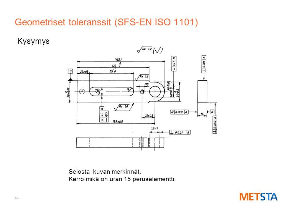 Geometriset toleranssit (SFS-EN ISO 1101)
