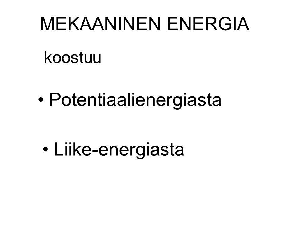 Potentiaalienergiasta