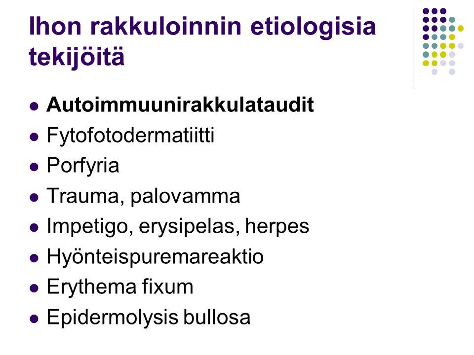 Ihon rakkuloinnin etiologisia tekijöitä