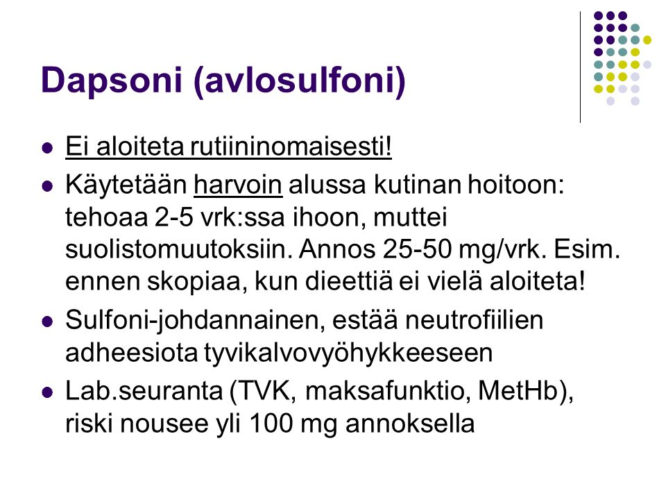 Dapsoni (avlosulfoni)