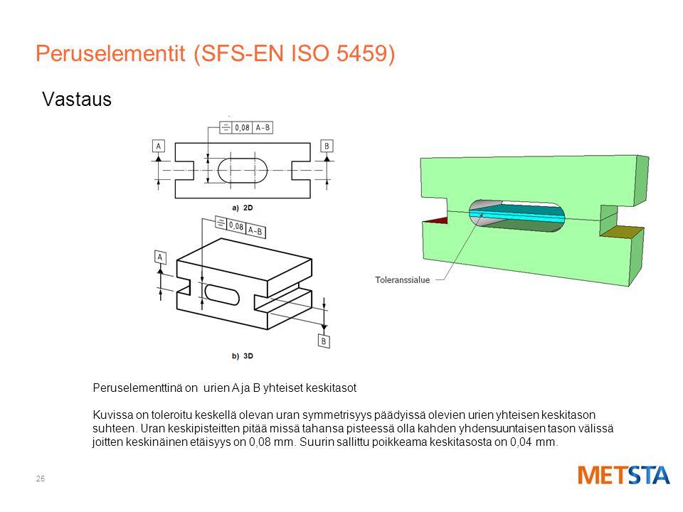 Peruselementit (SFS-EN ISO 5459)