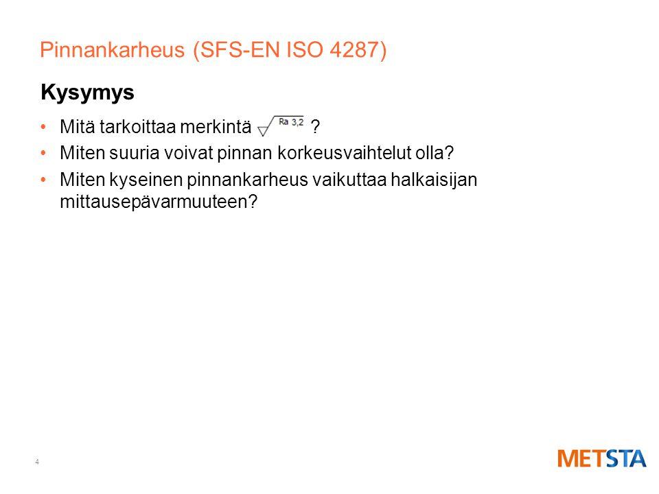Pinnankarheus (SFS-EN ISO 4287)