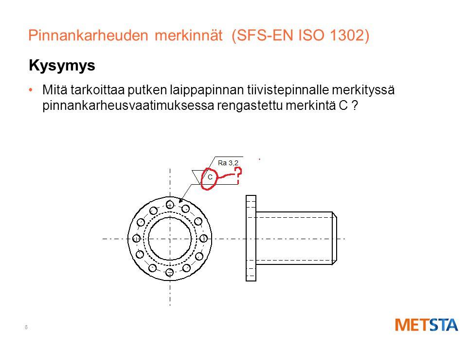 Pinnankarheuden merkinnät (SFS-EN ISO 1302)