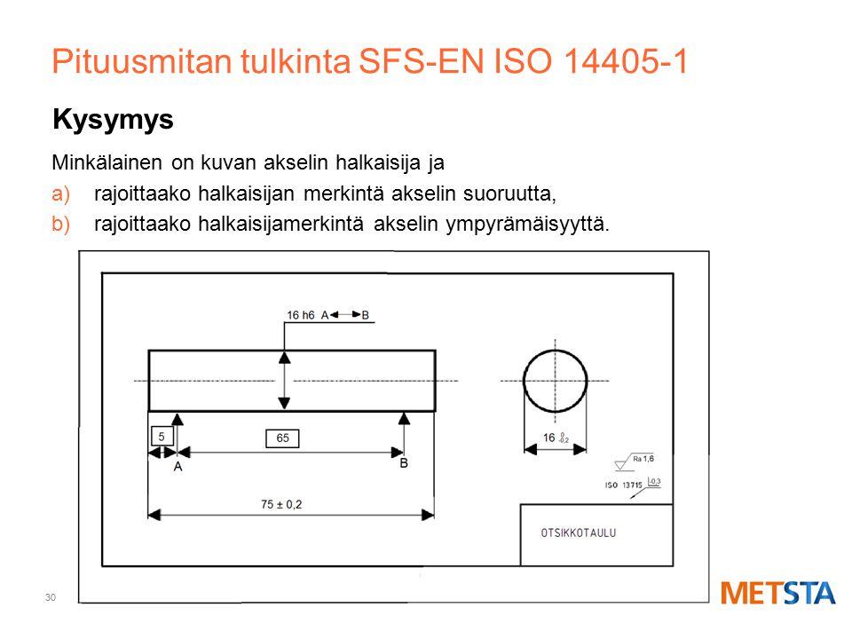 Pituusmitan tulkinta SFS-EN ISO 14405-1