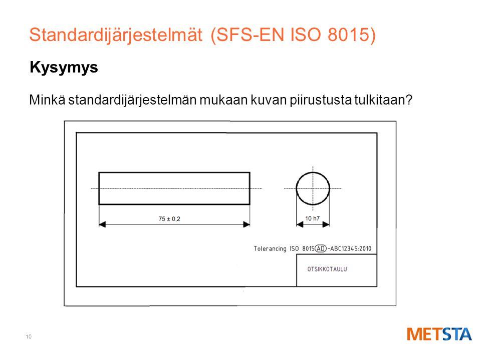 Standardijärjestelmät (SFS-EN ISO 8015)