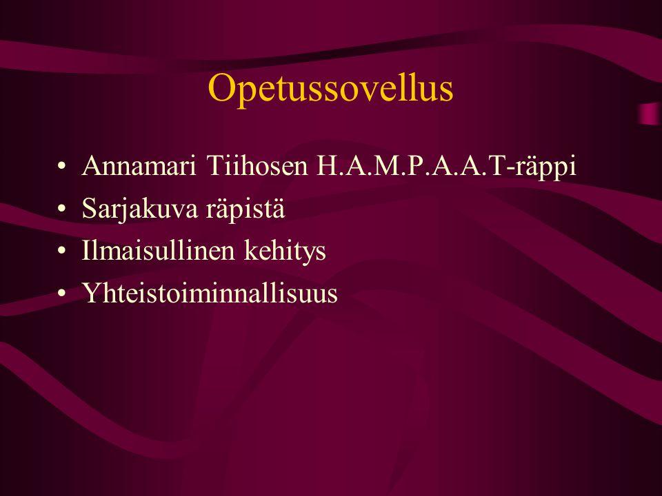 Opetussovellus Annamari Tiihosen H.A.M.P.A.A.T-räppi Sarjakuva räpistä