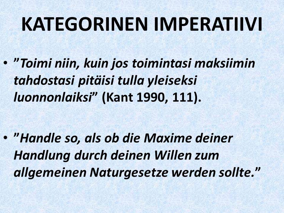 KATEGORINEN IMPERATIIVI