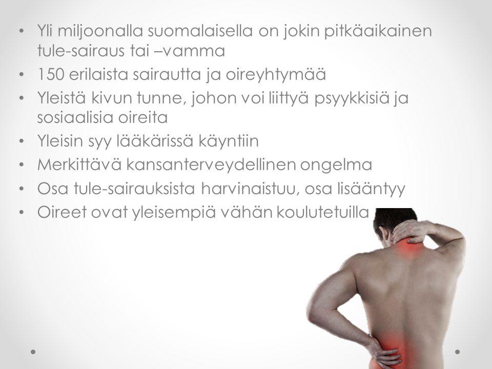 Yli miljoonalla suomalaisella on jokin pitkäaikainen tule-sairaus tai –vamma