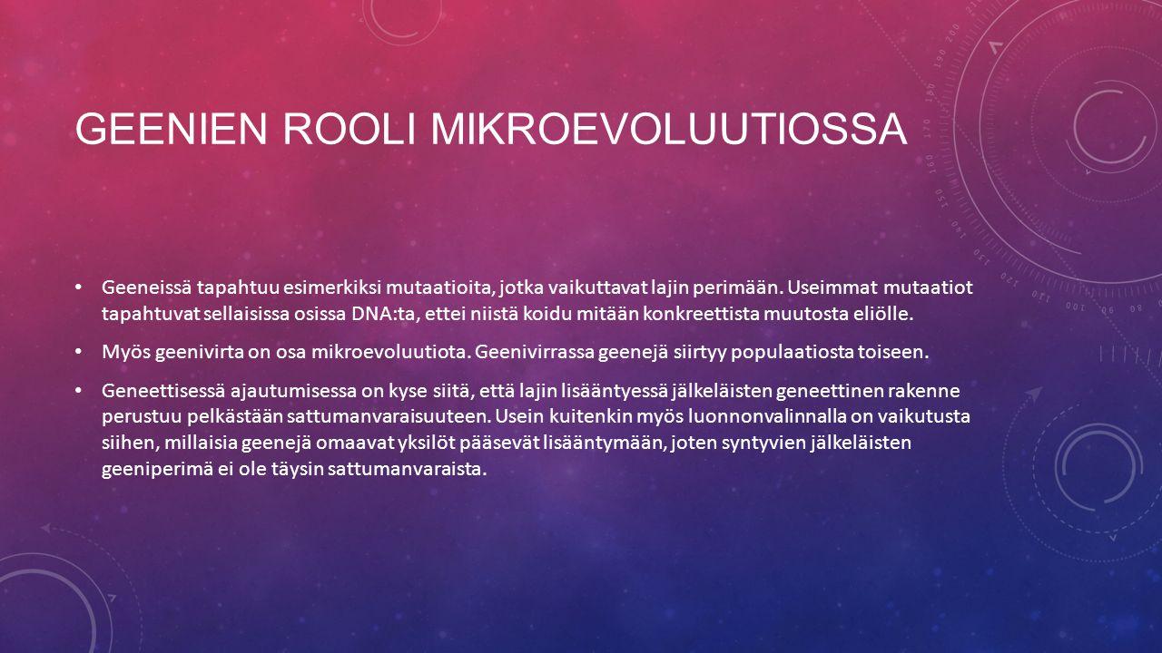Geenien rooli mikroevoluutiossa