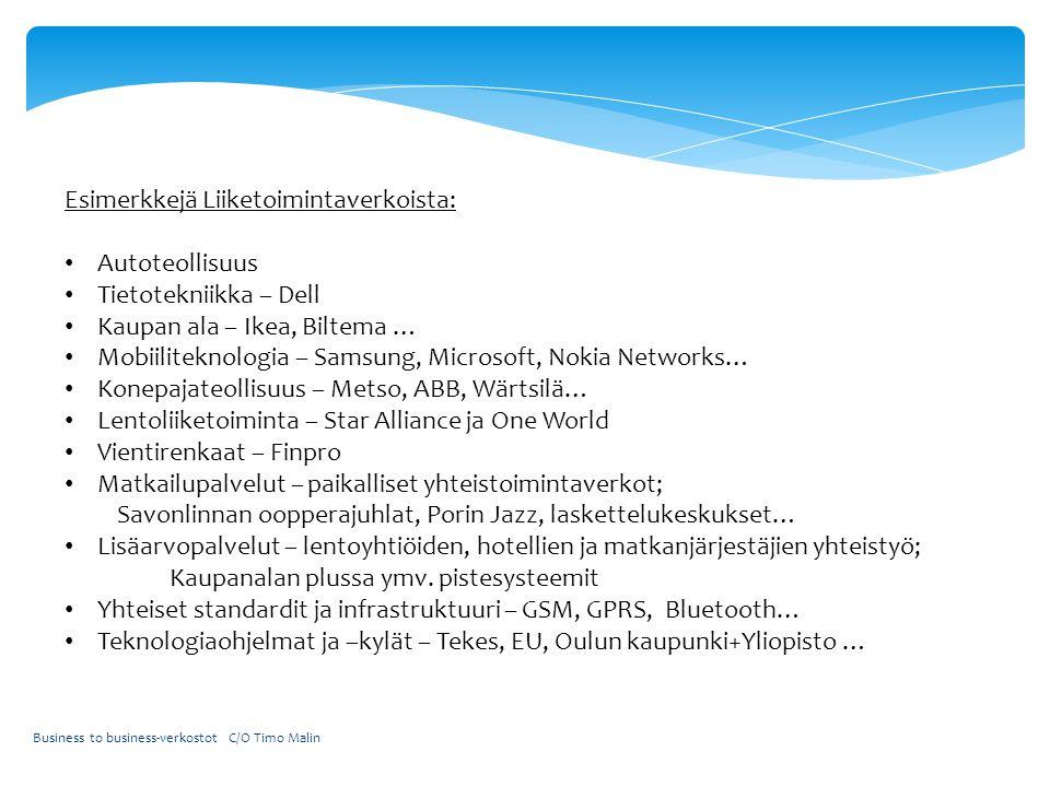 Business to business- verkostot - ppt lataa