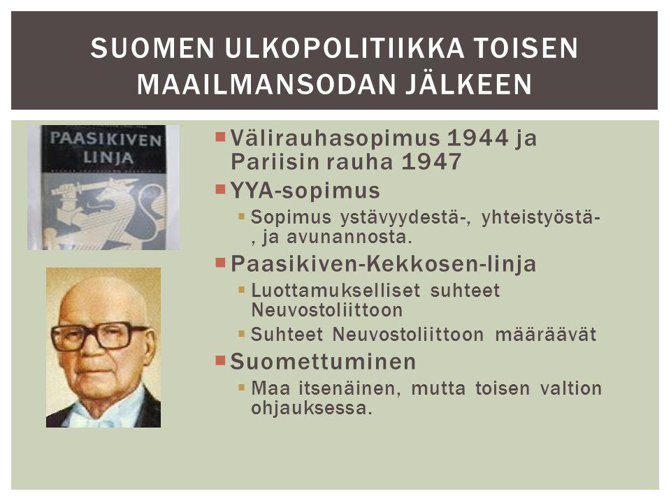 Suomen ulkopolitiikka toisen maailmansodan jälkeen