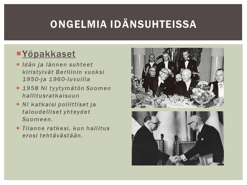 ONGELMIA IDÄNSUHTEISSA