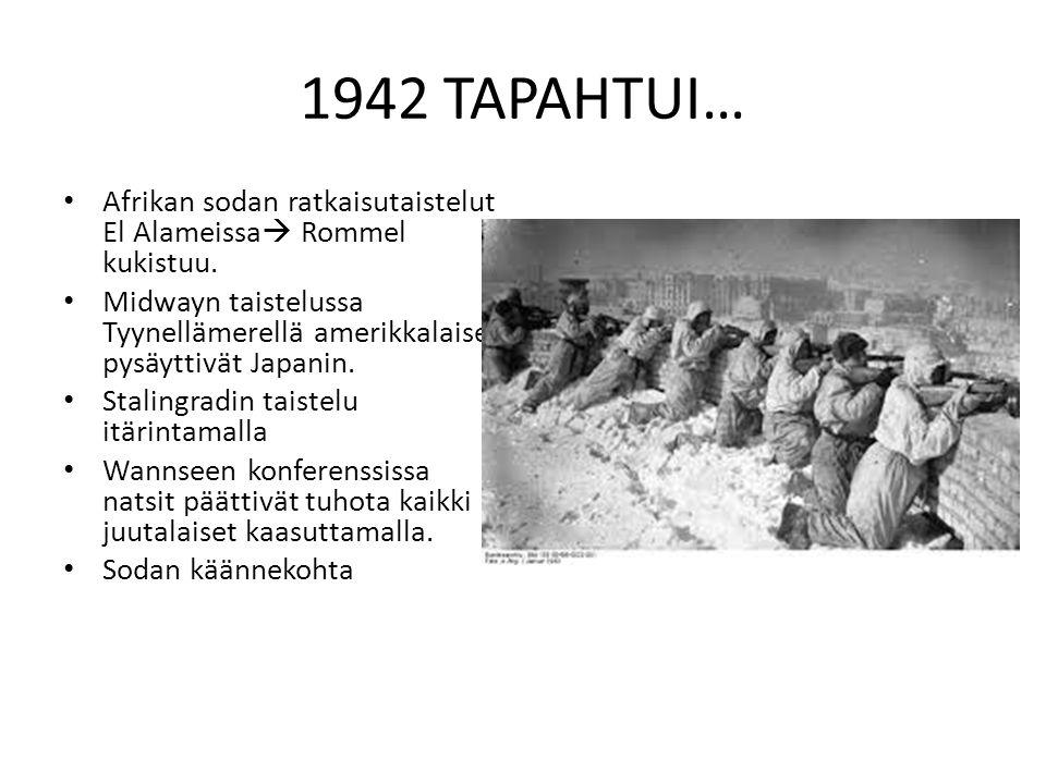 1942 TAPAHTUI… Afrikan sodan ratkaisutaistelut El Alameissa Rommel kukistuu.