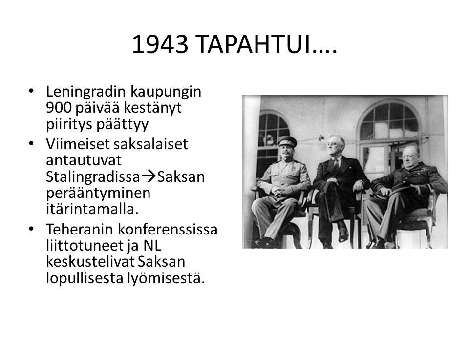 1943 TAPAHTUI…. Leningradin kaupungin 900 päivää kestänyt piiritys päättyy.