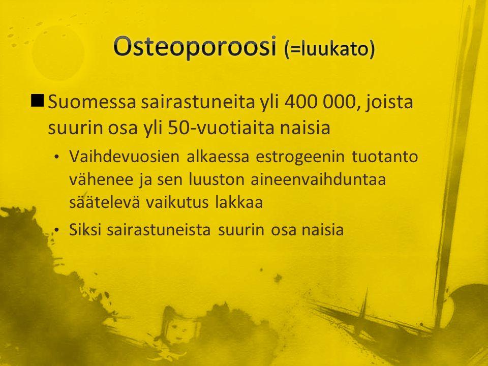 Osteoporoosi (=luukato)
