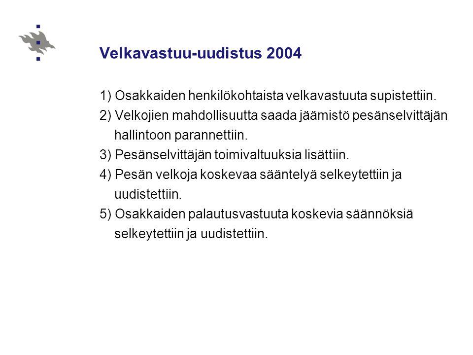 Velkavastuu-uudistus 2004
