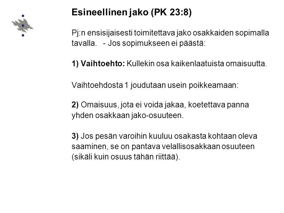 Esineellinen jako (PK 23:8)