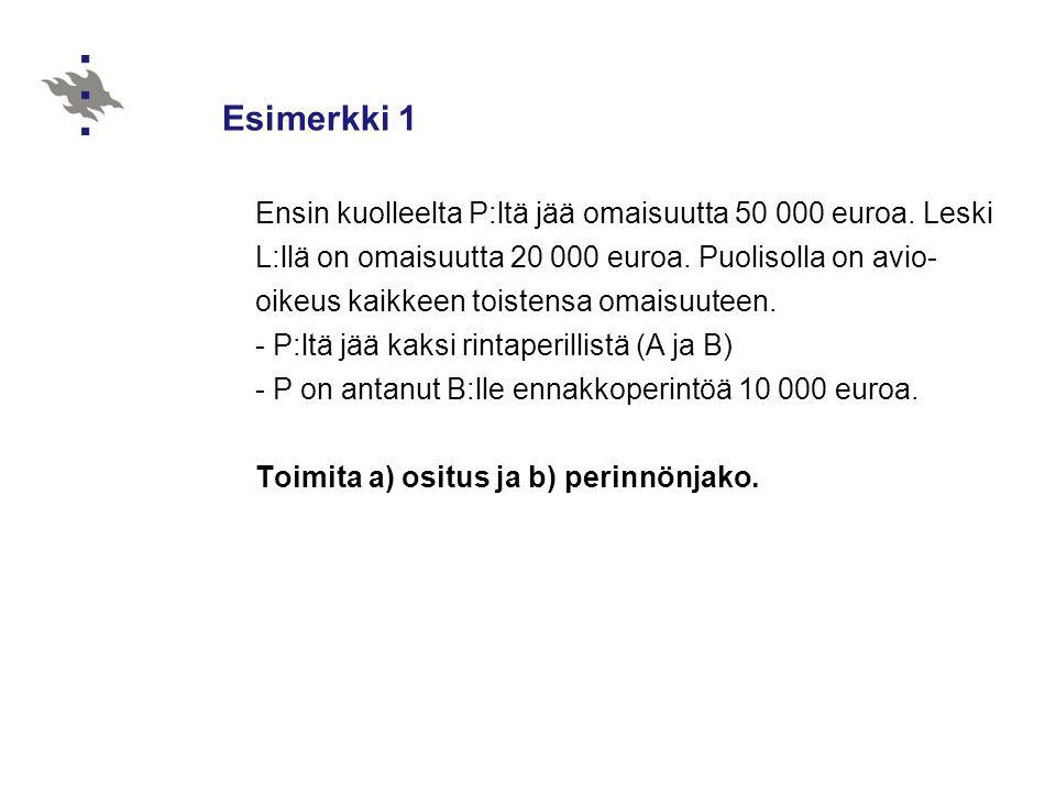Esimerkki 1