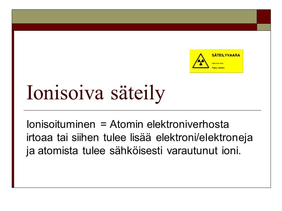 Ionisoiva säteily