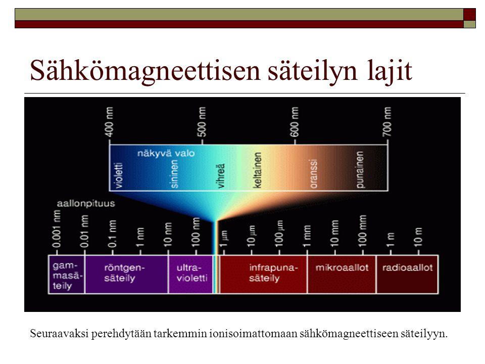 Sähkömagneettisen säteilyn lajit