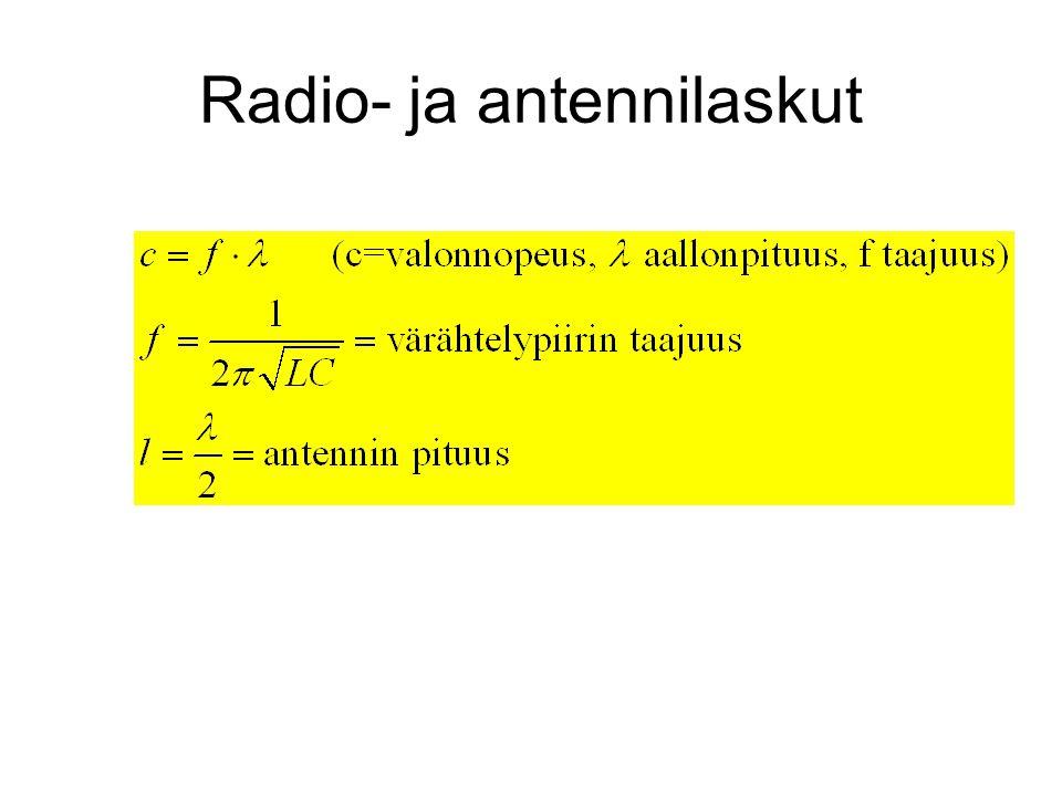 Radio- ja antennilaskut