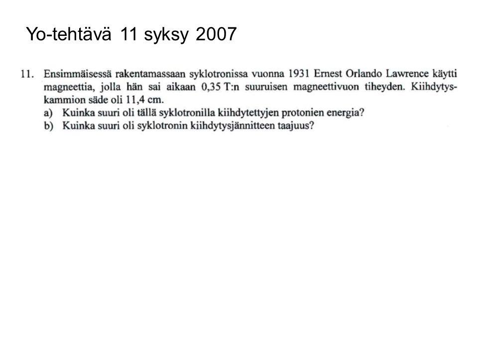 Yo-tehtävä 11 syksy 2007