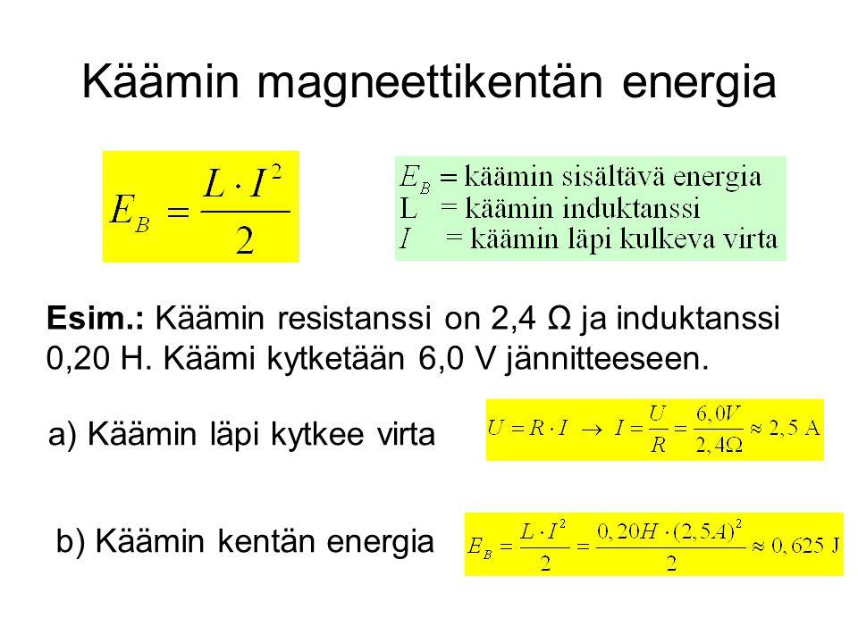 Käämin magneettikentän energia