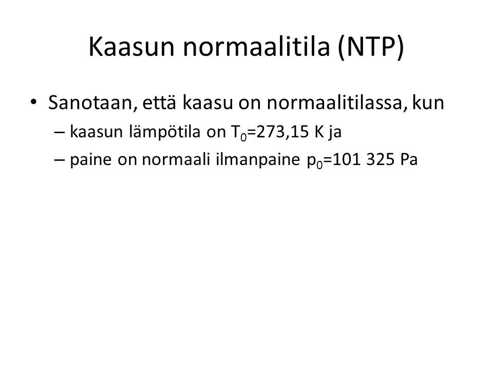 Kaasun normaalitila (NTP)