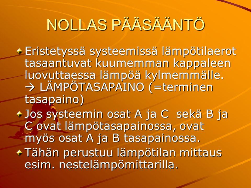 NOLLAS PÄÄSÄÄNTÖ
