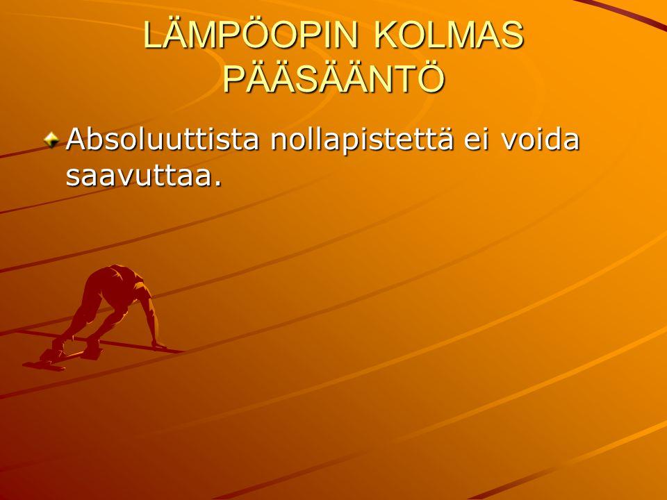 LÄMPÖOPIN KOLMAS PÄÄSÄÄNTÖ