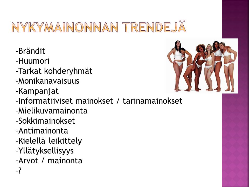 Nykymainonnan trendejä