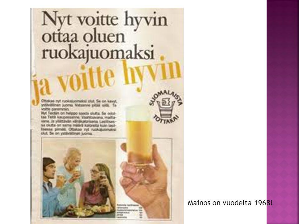 Mainos on vuodelta 1968!