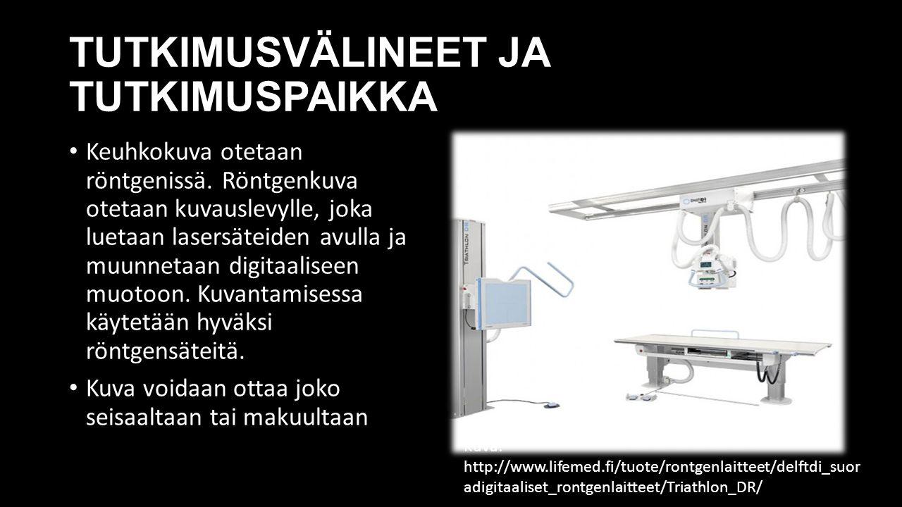 TUTKIMUSVÄLINEET JA TUTKIMUSPAIKKA