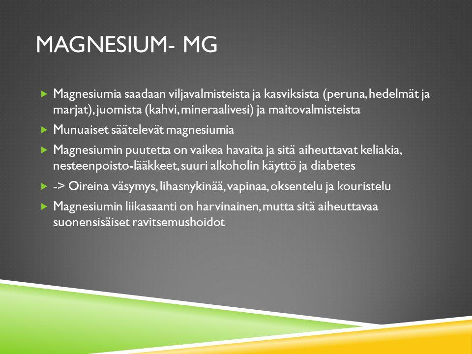 Magnesium- Mg