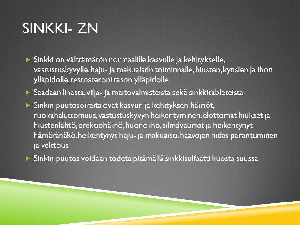 Sinkki- Zn