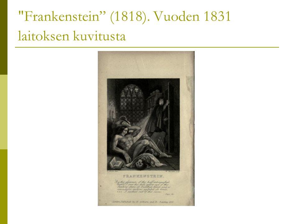 Frankenstein (1818). Vuoden 1831 laitoksen kuvitusta