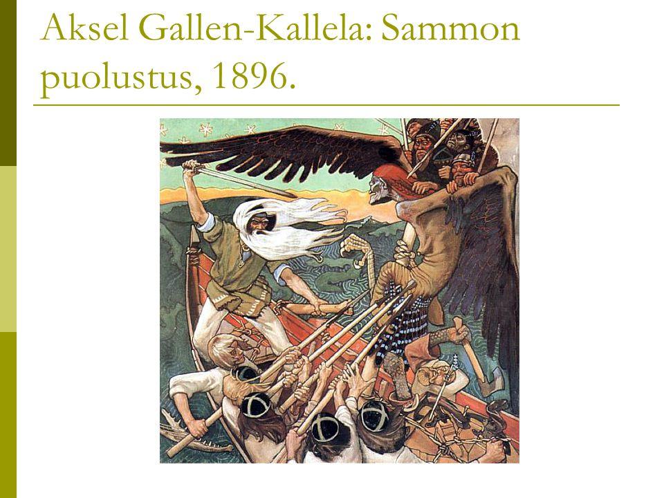 Aksel Gallen-Kallela: Sammon puolustus, 1896.