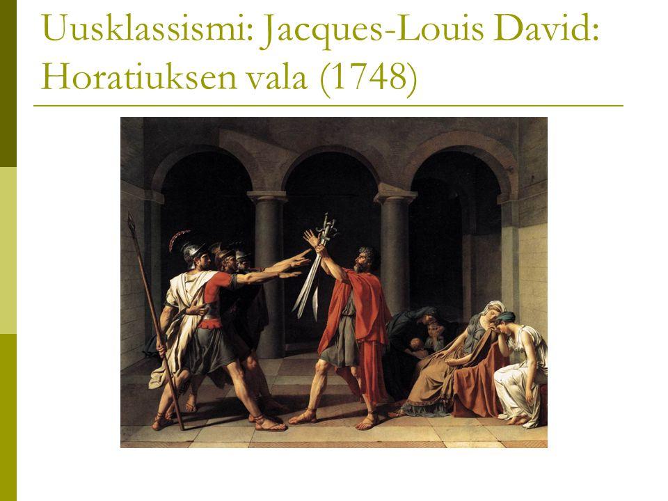 Uusklassismi: Jacques-Louis David: Horatiuksen vala (1748)