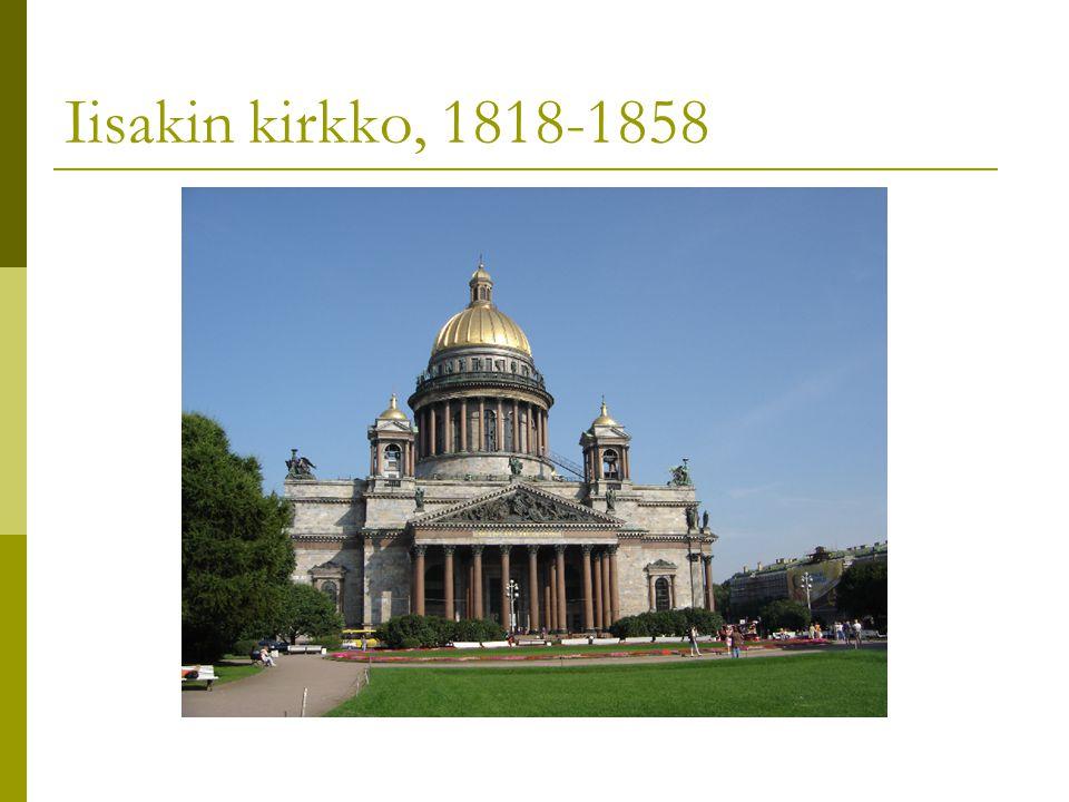 Iisakin kirkko, 1818-1858