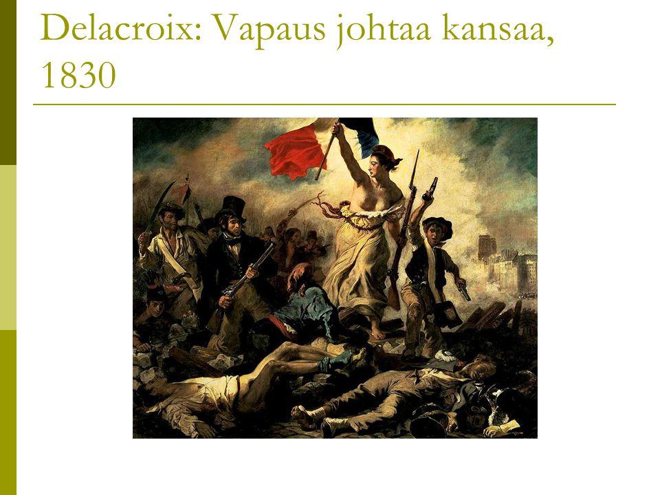 Delacroix: Vapaus johtaa kansaa, 1830