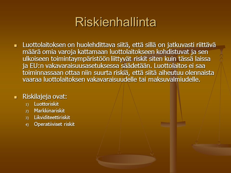 Riskienhallinta
