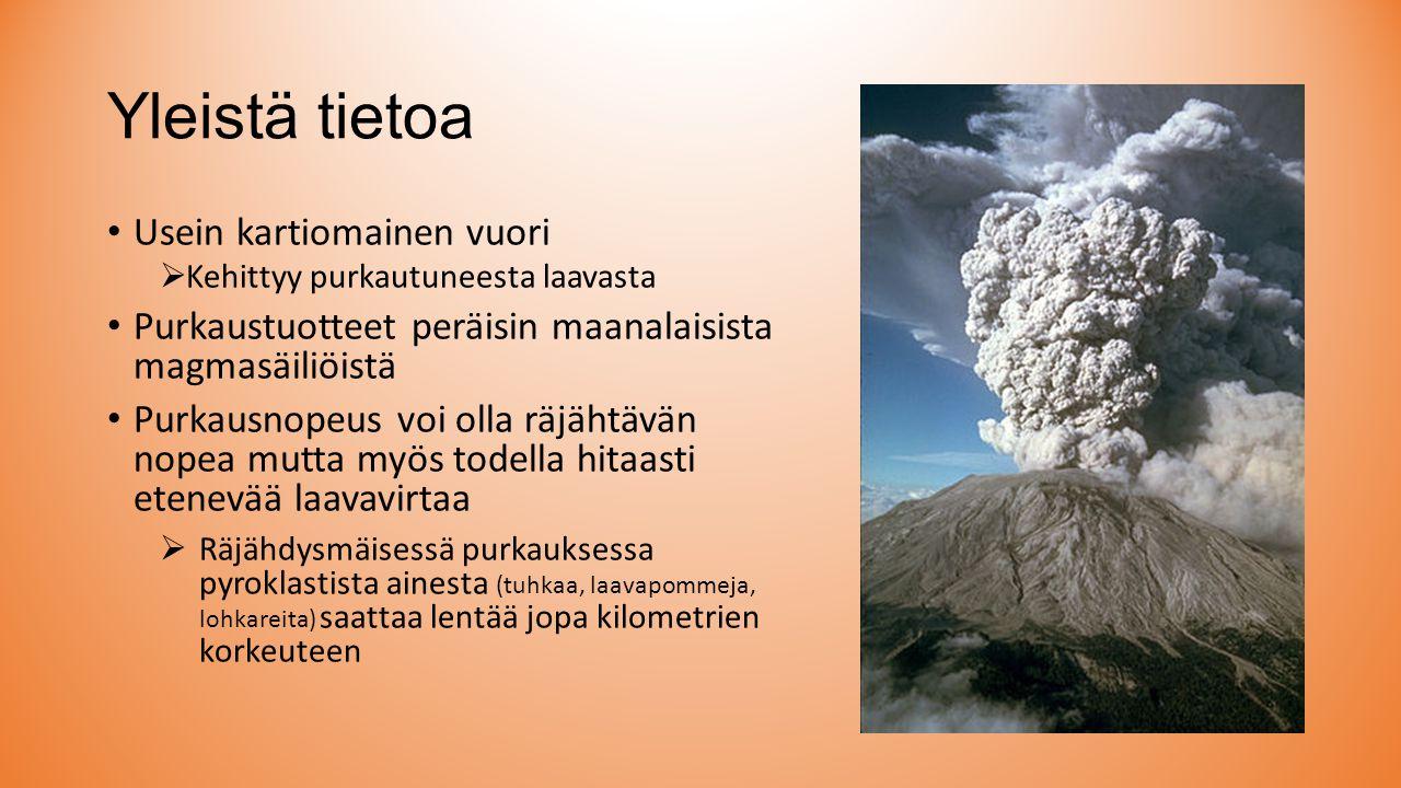 Yleistä tietoa Usein kartiomainen vuori
