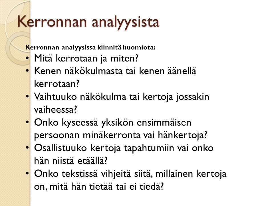 Kerronnan analyysista