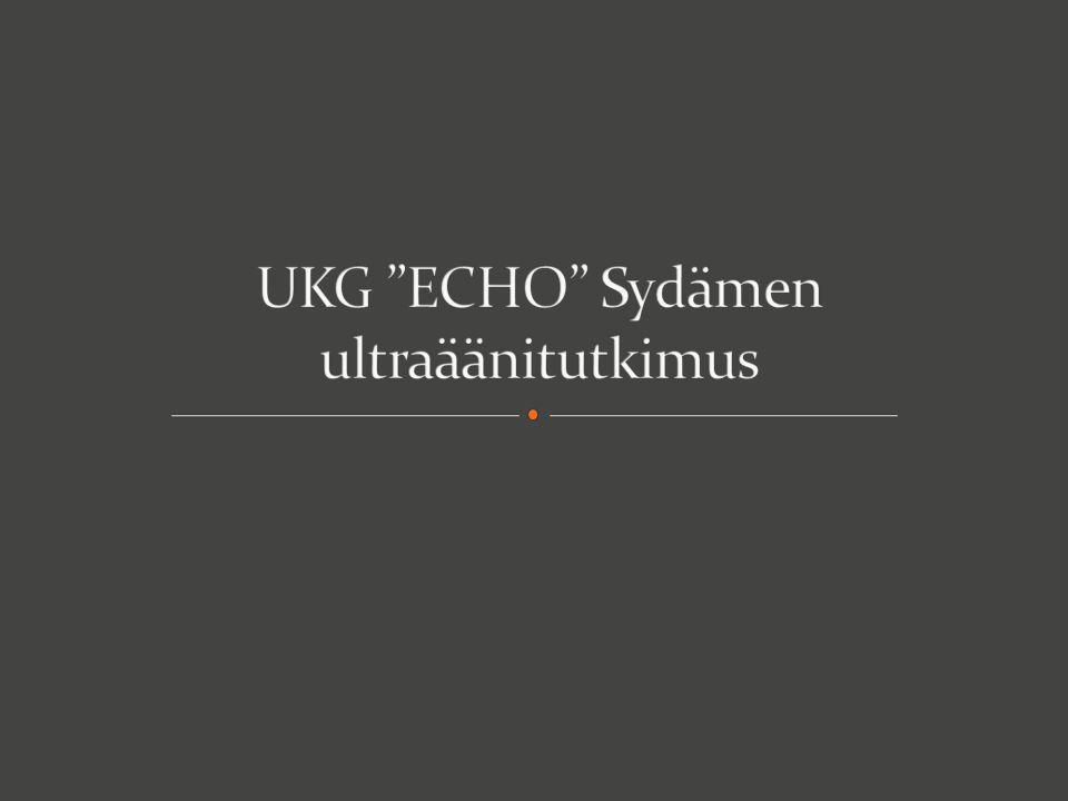 UKG ECHO Sydämen ultraäänitutkimus